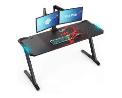 EUREKA ERGONOMIC Z60 GAMING DESK WITH RGB LIGHTING