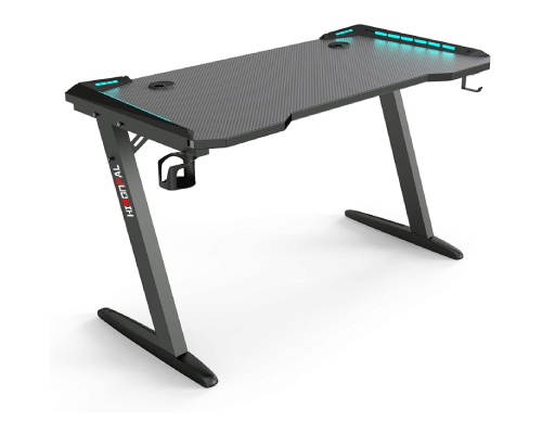 HIRONPAL GAMING DESK WITH LED BLACK